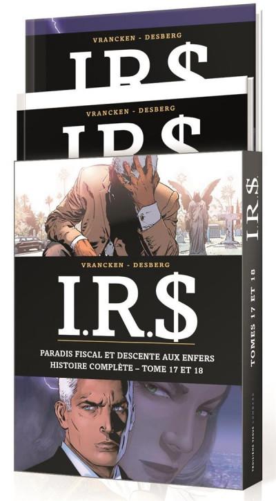 Couverture I.R.$ - fourreau tomes 17 et 18