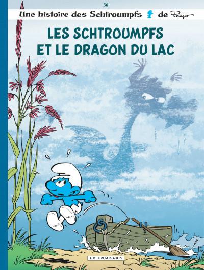 Couverture Les schtroumpfs tome 36 - Les schtroumpfs et le dragon du lac