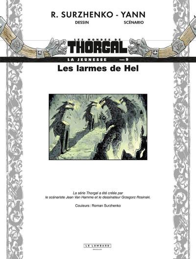 Page 2 La jeunesse de Thorgal tome 9