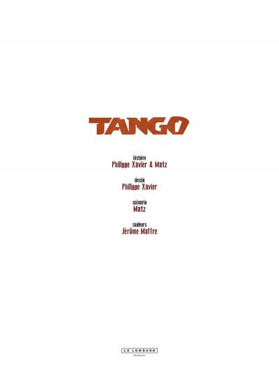 Page 1 Tango tome 6 + ex-libris offert