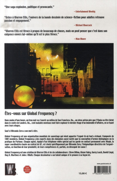 Dos global frequency tome 1 - planète en flammes