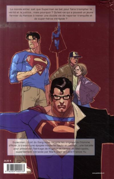 Dos superman ; droit du sang