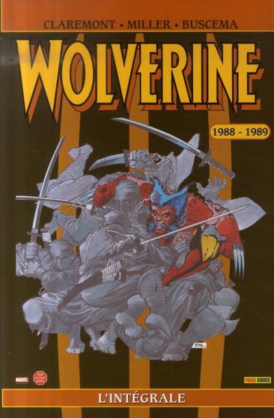 Couverture wolverine ; intégrale 1988-1989