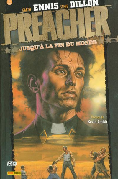 Couverture Preacher (Panini) tome 2 - jusqu'à la fin du monde