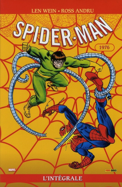 Couverture spider-man - intégrale tome 14 - 1976