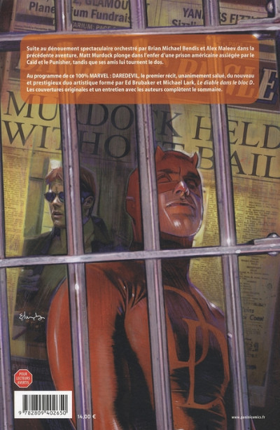 Dos daredevil tome 14 - Le diable dans le bloc D