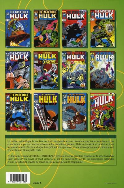 Dos hulk - intégrale tome 2 - 1987-1988