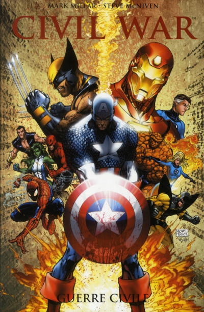 Couverture Civil war (Marvel Deluxe) tome 1