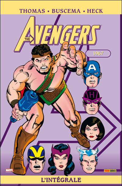 Couverture the avengers - intégrale tome 4 - 1967