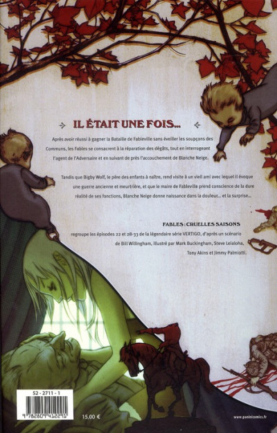 Dos fables tome 6 - cruelles saisons
