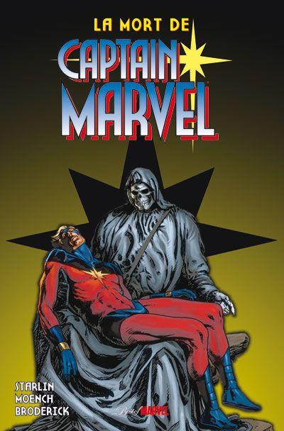 Couverture la mort de Captain Marvel