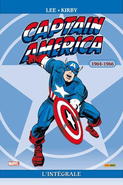 Couverture captain America - intégrale tome 1 - 1964-1966