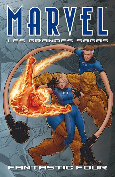 Couverture Marvel - les grandes sagas N.10 ; les quatre fantastiques