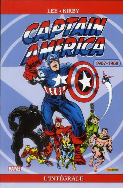 Couverture captain America - intégrale tome 2 - 1967 - 1968