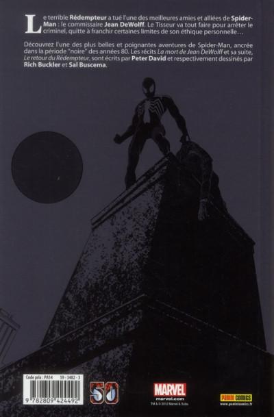 Dos Spider-man - la mort de Jean Dewolff