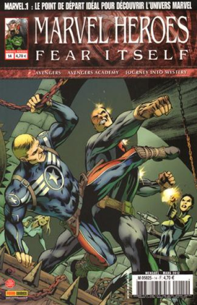 Couverture marvel heroes tome 14 - fear itself