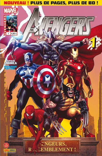 Couverture Avengers 1 vengeurs, rassemblement !