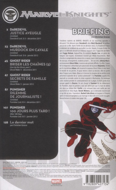 Dos Marvel Knights tome 3