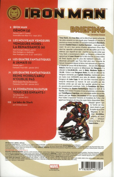 Dos Iron man - le plus high tech des avengers tome 2