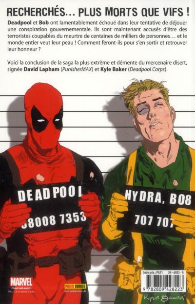 Dos Deadpool Max tome 3 - la liste noire