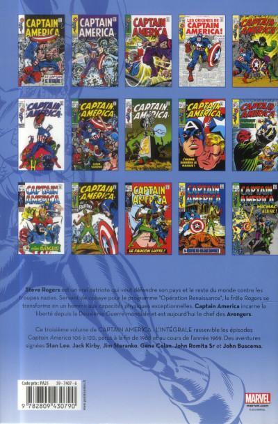 Dos Captain America - intégrale tome 3 - 1968-1969