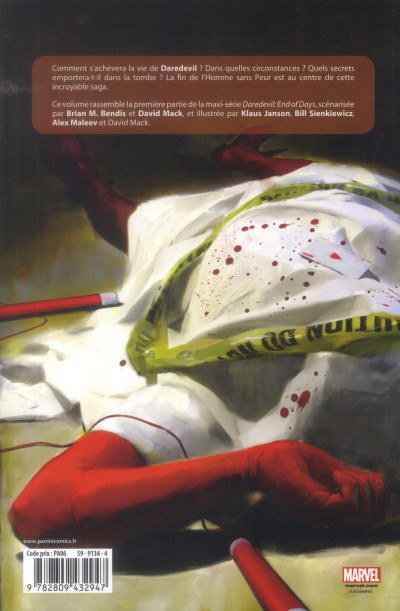 Dos Daredevil - end of days tome 1
