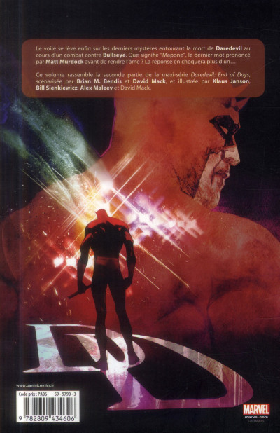 Dos Daredevil - end of days tome 2