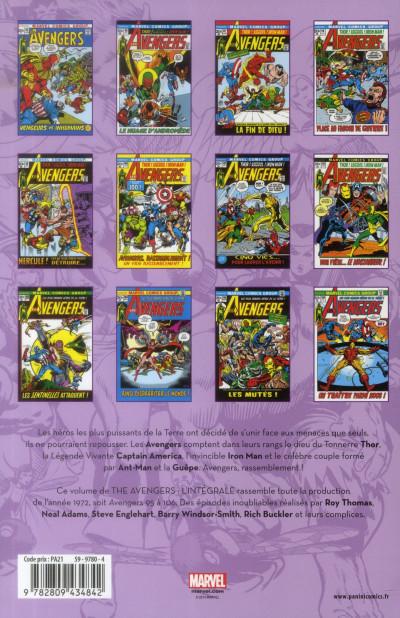 Dos Avengers - Intégrale 1972
