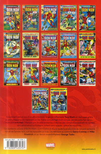 Dos Iron Man - Intégrale 1971-1972