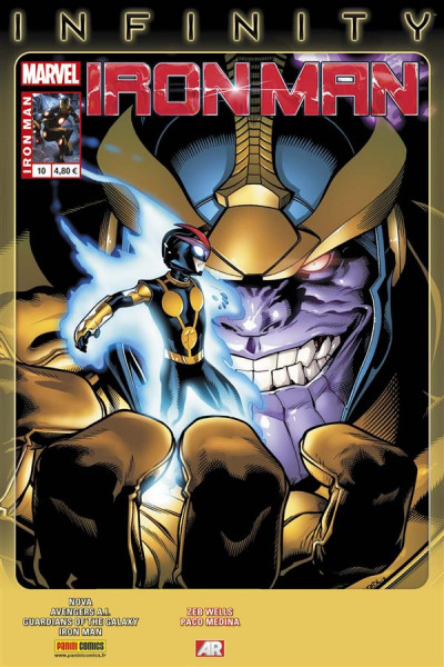 Couverture Iron Man N.2013/10 ; Iron Man infinity ; point de départ