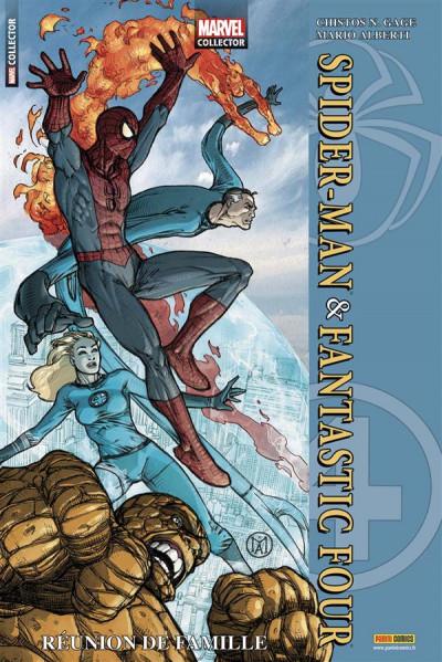 Couverture marvel collector N.1 ; Spider-Man & Fantastic Four ; réunion de famille