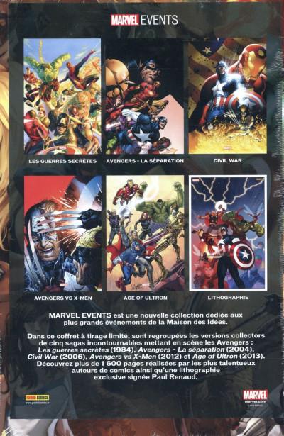 Dos Marvel Events - Coffret Avengers