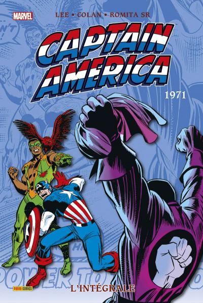 Couverture Captain America - Intégrale 1971