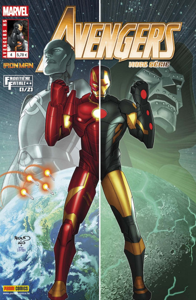 Couverture Avengers  HS tome 4 : Iron Man - Fatal Frontier 1/2