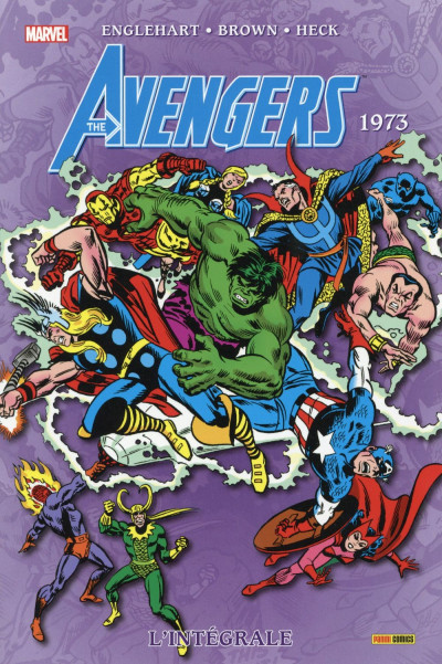 Couverture Avengers - Intégrale 1973