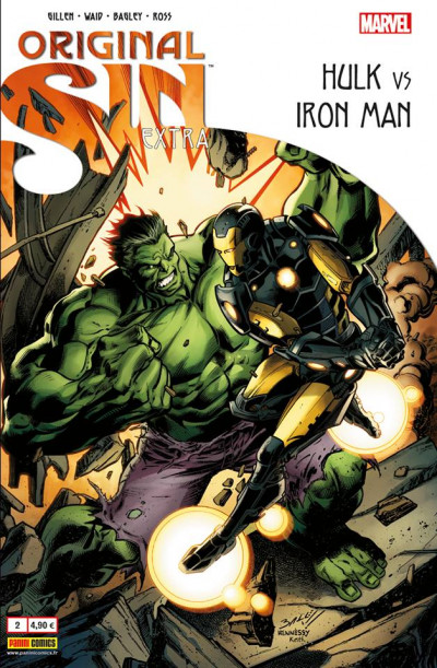 Couverture Original Sin Extra tome 2 - Iron man vs Hulk