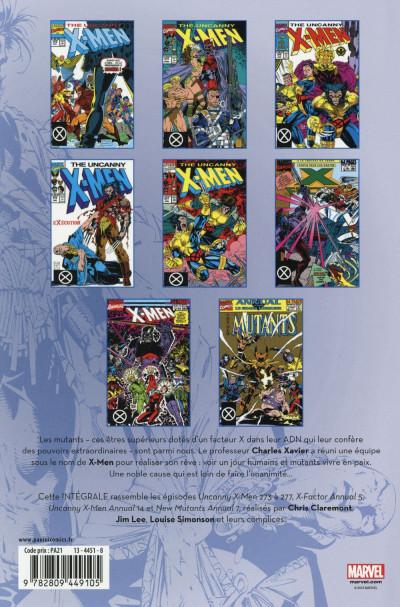 Dos X-Men - Intégrale 1991 (I)