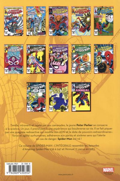 Dos Spider-Man intégrale 1983