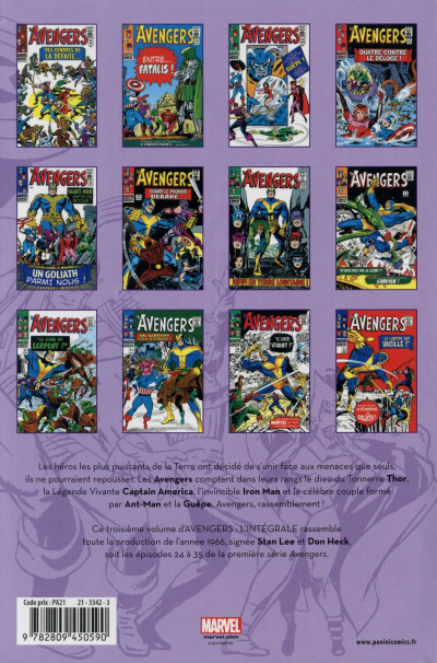 Dos Avengers - Intégrale 1966 (édition 2015)
