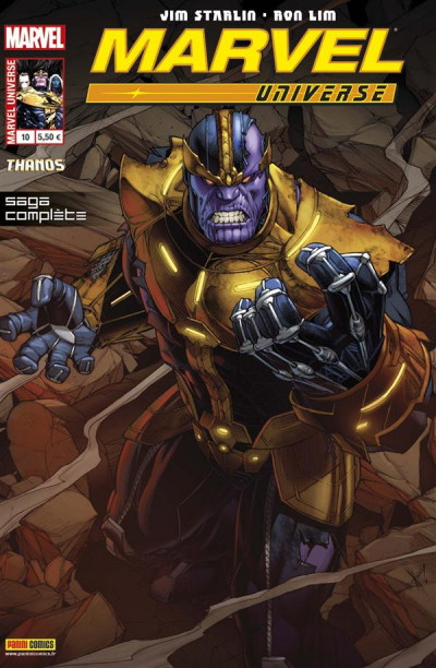 Couverture Marvel Universe 2013 tome 10 - Thanos - là-haut, un dieu écoute