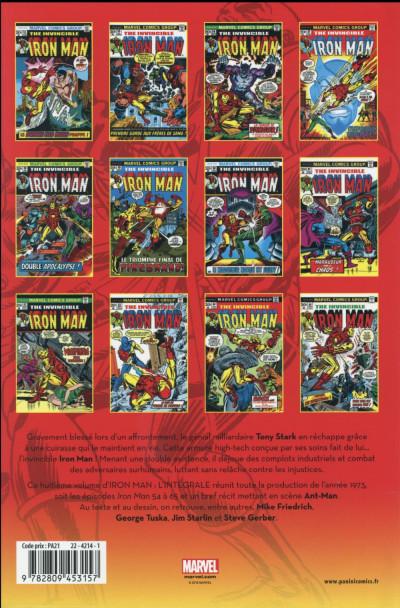 Dos Iron Man - Intégrale 1973