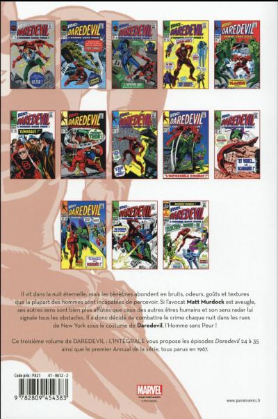 Dos Daredevil - intégrale tome 3 - 1967