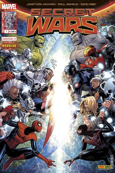 Couverture Secret wars tome 1 - Cover 2/2 J. Cheung