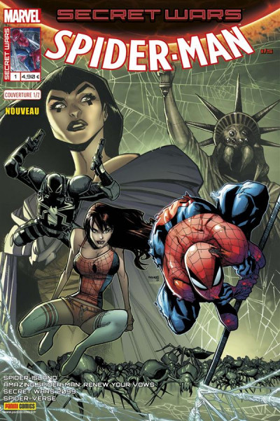 Couverture Secret wars : Spider-Man tome 1 - Cover 1/2 Humberto Ramos
