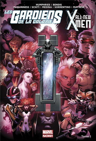 Couverture All New X-Men/ Les gardiens de la galaxie tome 1