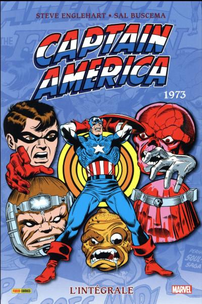 Couverture Captain America - intégrale tome 7 - 1973