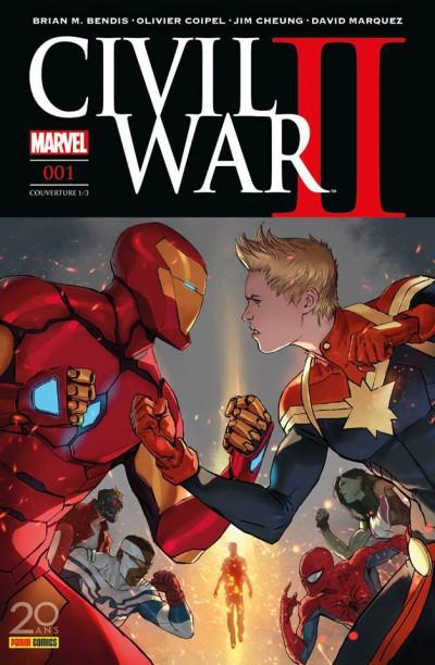 Couverture Civil War II tome 1 - cover 1/2