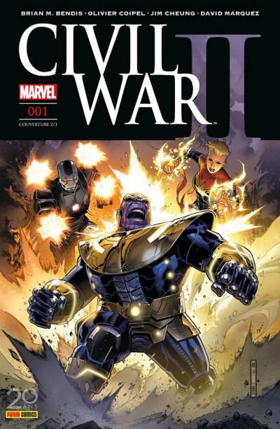 Couverture Civil War II tome 1 - cover 2/2