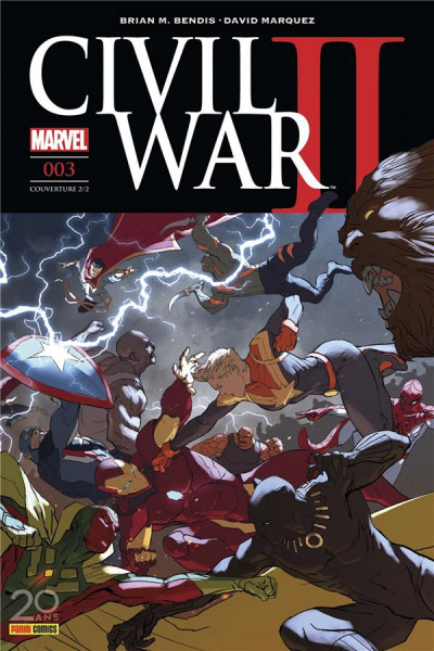 Couverture Civil War II tome 3  - cover 2/2