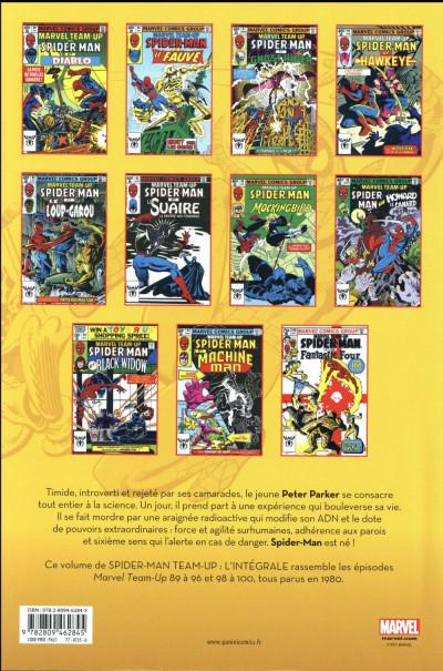 Dos Spider-Man -Team up - intégrale tome 36 - 1980